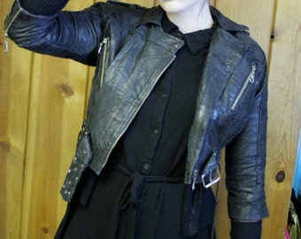 80s Cropped Leather Jacket