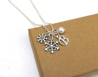 Snowflake Necklace, Christmas Necklace, Snowflake Jewellery, Christmas Jewellery, Snowflake Jewelry, Frozen, Winter Necklace