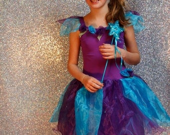 Purple petal flower fairy dress - 3 sizes - fairylove