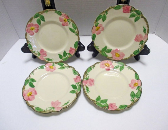 Franciscan China Desert Rose Pattern Bread And By