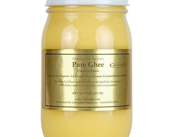 Organic Grass-Fed Ghee - rBGH and rBST Hormone-Free - 16 Fluid Ounces - *FREE SHIPPING!*