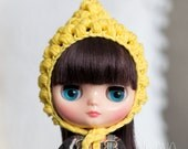 Pixie gnome helmet for Middie Blythe, yellow