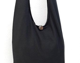 Women bag Handbags Thai Cotton bag Hippie bag Hobo bag Boho bag Shoulder bag Sling bag Messenger bag Tote bag Crossbody bag Purse Black