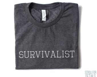 Survivalist Tee | Soft Blend Survival T-shirt | Survival Tee | Survivalist | Outdoors | Nature | bushcraft | scoutcraft |  woodcraft | hike