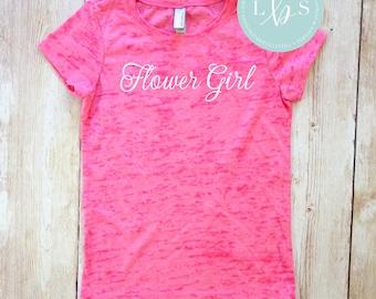 Flower Girl Shirt. Burnout T-Shirt. Bridesmaid Shirts. Bachelorette Party Shirts Bride Shirt Bridesmaid Gift Wedding Shirts. Bridal Shirts