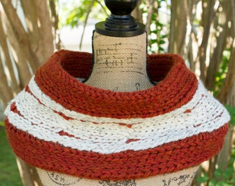 ONE IN STOCK - Ready to Ship! / Chunky Pumpkin Pie Cowl