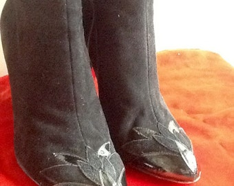 Ankle black boots size uk 5