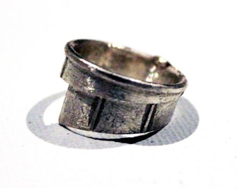 Nautical Pure Silver Sail Wrap 3D Printed Ring Size 6