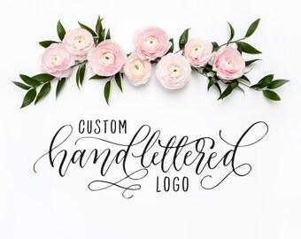 Custom Hand lettered logo design, custom logo design handlettered calligraphy logo, photography logo one of a kind logo, Printable Wisdom