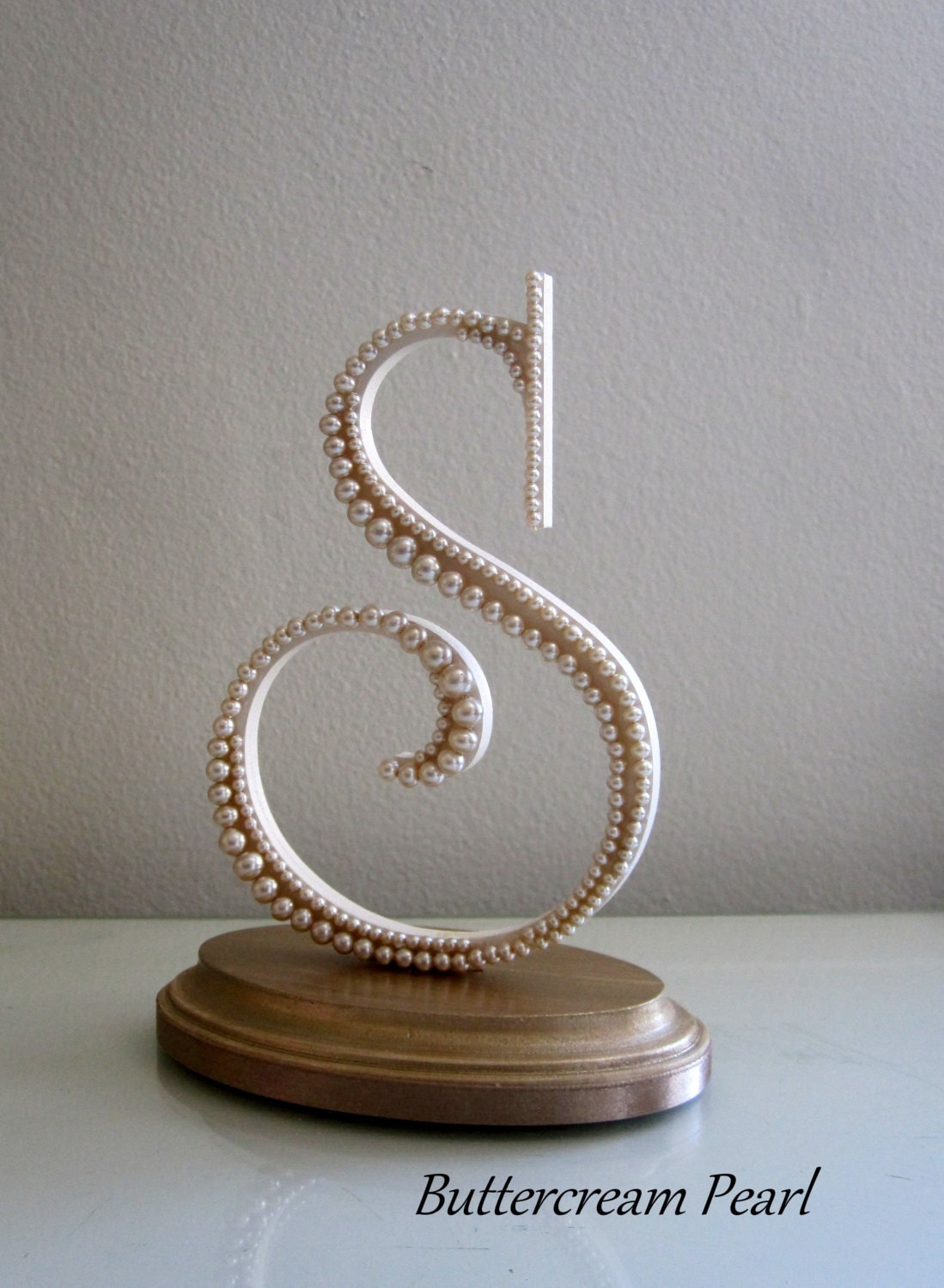 Monogram Letter S Cake Topper Wedding Keepsake by ...