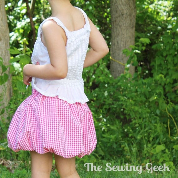 Girl's Bubble Skirt PDF Sewing Pattern. Girl Sewing Pattern. Toddler Sewing Pattern. Baby Sewing Pattern. Sizes 3 months to 6 years