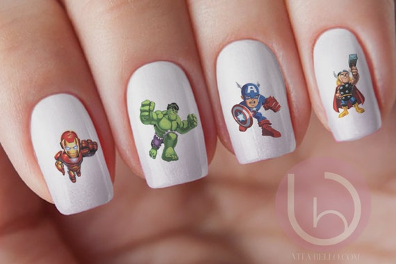 Super hero character nail decal marvel character hulk nail decal super hero character nail decal marvel character hulk nail decal ironman nail decalthor nail decal nail art from vitabellovogue on etsy studio prinsesfo Gallery