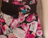 Valentine's Day Red Pink Hearts Floral Peasant Dress with Sash - Baby Girl