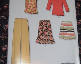 New Look 6979  Misses Top Skirt and Pants Sewing Pattern UNCUT - Size 10 - 22