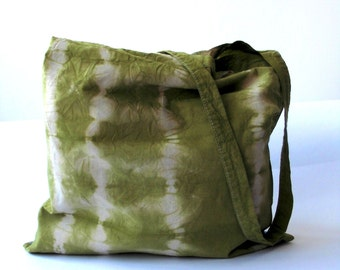 Hand dyed- tie dyed- cotton tote bag