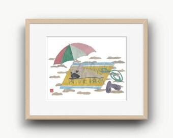 French Bulldog Art, Fawn French Bulldog, French Bulldog Gift, Frenchie, 14 x 11