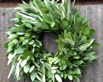 Fresh Bay Leaf Wreath