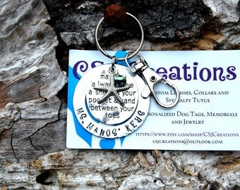 Personalized May You Always Have a Shell in Your Pocket and Sand Between Your Toes Keychain, Christmas Beach Keychain, Hand Stamped Keychain