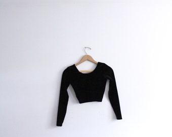Black Velvet 90s Crop Top