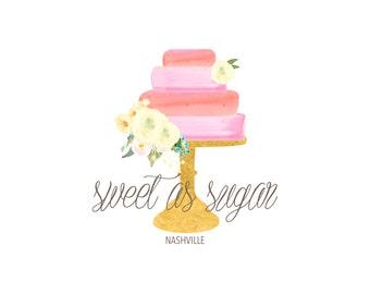 Pre-made logo Design - cake logo