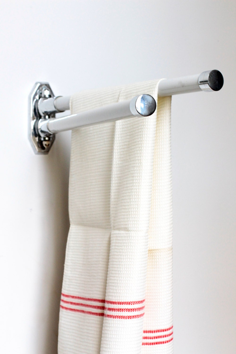 vintage bathroom towel rod or bar deco towel rack