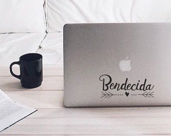 Bendecida - Vinyl Decal - Laptop Decal - Macbook Decal - Laptop Sticker - Macbook Sticker - Vinyl Sticker - Car Decal