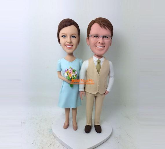 custom bobblehead custom cake topper wedding topper custom. Black Bedroom Furniture Sets. Home Design Ideas