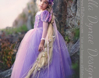 Rapunzel Tutu Dress Tangled-Inspired Costume