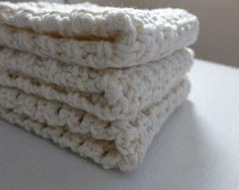 Crocheted Dishcloths (set of 3)