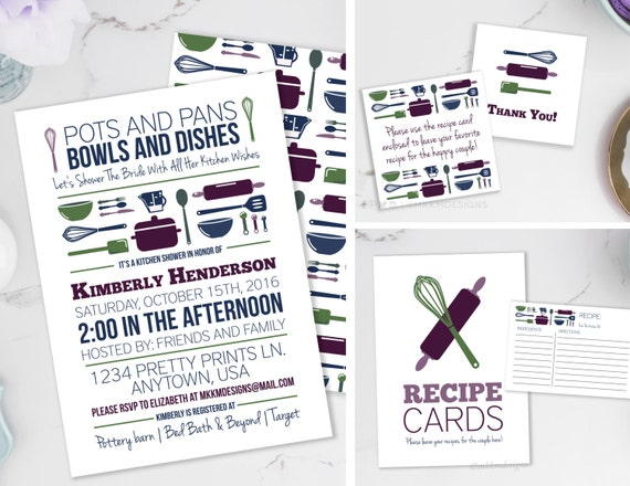 Kitchen Party Invitation Cards Design Emily Ellyn Mixing It Up In ...
