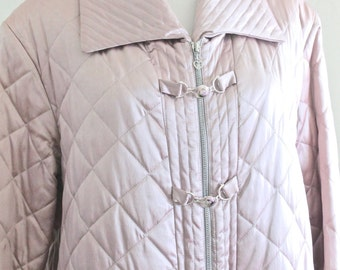 50% OFF: RARE Griffith & Gray Pink Quilted Satin Jacket for St. John Large