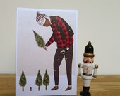 Christmas Card - Giant Lumberjack