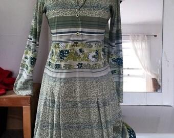 Gucci-Style Dress. 70' Italian Lycra Flower Size L