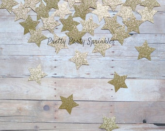 Gold Star Confetti Glitter Table Decorations Gender Reveal Twinkle Twinkle Little Star Baby Shower, Wish Upon A Star Galaxy Party, New Years