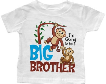 """I'm Going to be a Big Brother """"Lil Monkeys"""" T-shirt"""