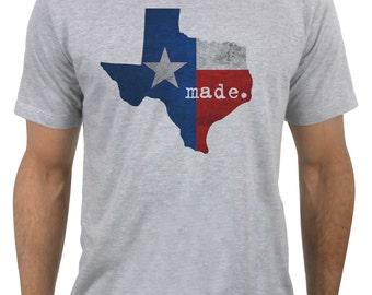 "Texas ""Made"" - Distressed Texas Flag Men's T-Shirt"