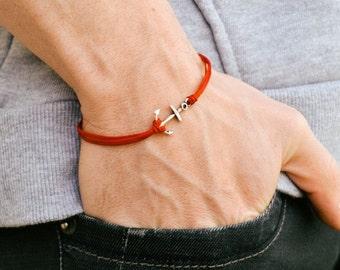 anker schnur armband herren wrap armband schwarzes kabel. Black Bedroom Furniture Sets. Home Design Ideas