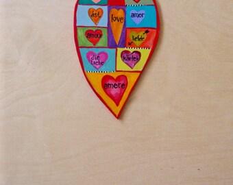 Love Languages Heart Wall Decor