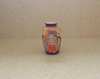 Japanese Satsuma 3 Faced Vase