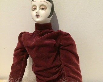 Vintage Flapper Doll, Boudoir Doll from the 1920s