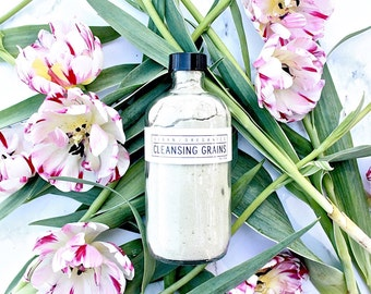 CLEANSING GRAINS // 'Refresh' Anti-Aging Green Tea Facial Cleanser - - - Vegan ∙ Organic ∙ 100% Natural