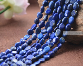 Natural Lapis Lazuli Beads Irregular Shape Beads NOT Dyed 2 sizes to choose  15 Inch Strand LL29
