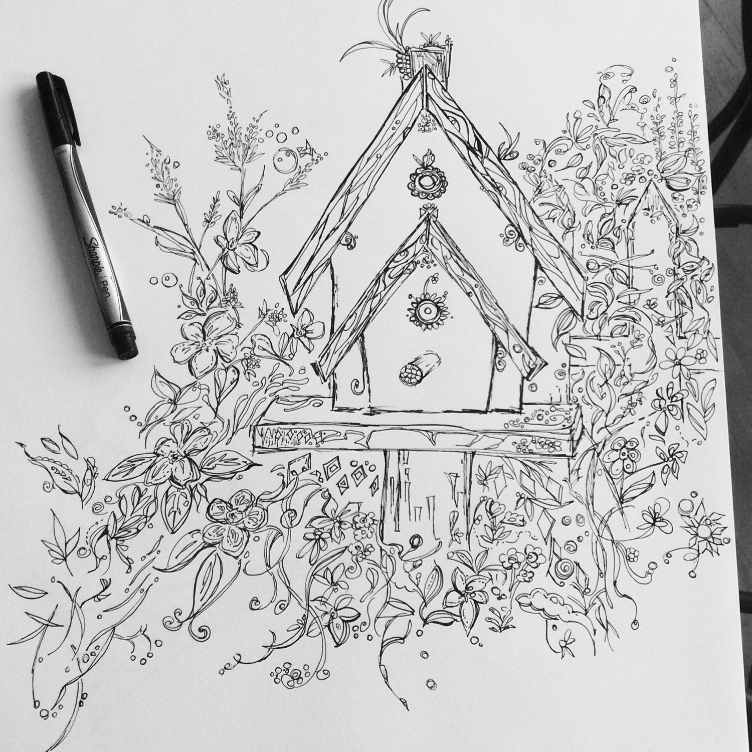 Birdhouse coloring sheet - Like This Item