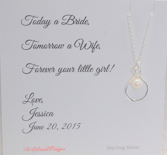 Mother Of The Bride Necklace Wedding Day Gift For Your