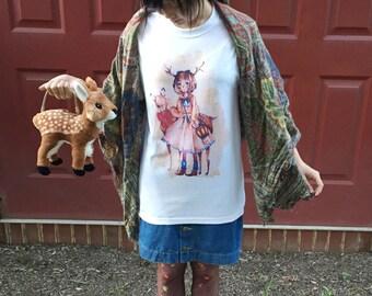 Deer girl shirt