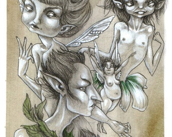 Faeries - fairy art print