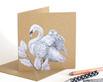 Mute Swan - Recycled Greetings Card