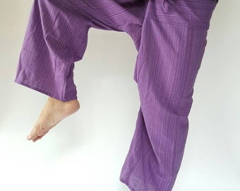 TCP0020 Freshy purpleThai fisherman/Yoga are pants Free-size: Will fit men or woman