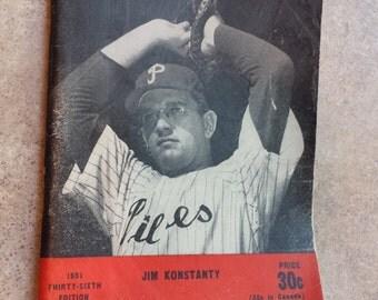 1951 Who's Who In Baseball - Jim Konstanty