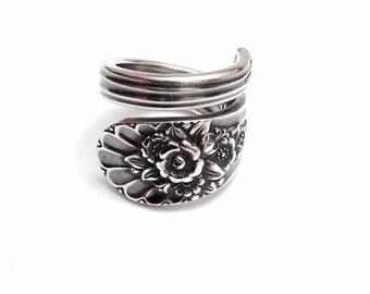 Vintage Silver Spoon Ring circa 1953 - Handmade Spoon Jewelry - Silverware Jewelry